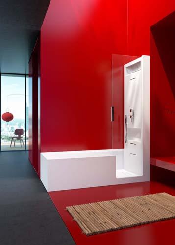 Fürdőkád / zuhany kombinációk a Glass tól